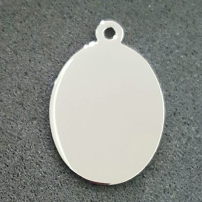 oval 23x29mm stainless steel